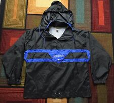Vintage Reebok Sport SpellOut Hooded Anorak Pullover Jacket Windbreaker XL Black