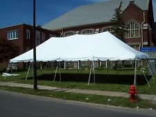 20 x 40 Commercial Pole Tent White TOP ONLY Outdoor Tents Event Rental Awning