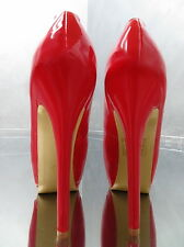 Unique Color Red Damen Sexy Stiletto Sky High Heels L44 Peep Toe Pumps Schuhe 40