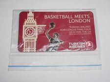 TURKISH AIRLINES EUROLEAGUE BASKETBALL FINAL FOUR LONDON 2013 Fridge Magnet NEW