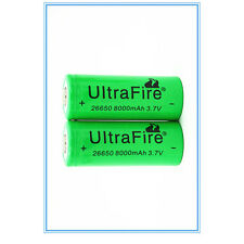 2Pcs 26650 8000mAh 3.7v Li-ion Rechargeable Battery Cell For Electric Tools