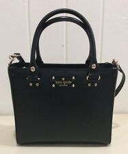 NWT Kate Spade Wellesley Quinn Black Shoulder Bag Purse Leather NEW