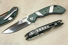 Olamic Wayfarer Compact Folding Knife, Texalium Scales, Titanium Clip & Inlays