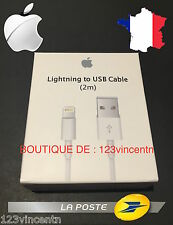 Câble Chargeur Lightning 2M D' Origine Apple MD819ZMA - iPhone 5/5S/6/6S