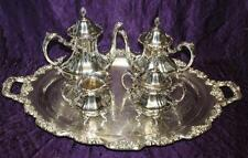Towle EP Silver Plate Rococo Georgian Tea Coffee Creamer Sugar Service Set