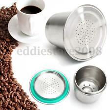 Stainless Steel Coffee Capsule Metal Pod Reusable Refillable For Nespresso Maker