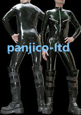 Latex Rubber Gummi Black Full-body Tights Catsuit Handsome Bodysuit Size XS-XXL