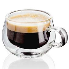 Giudice Doppia Parete Tazza Mug Occhiali-Espresso-Set di 2 (COPPIA) - Gratis P&P