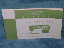 SEARS KENMORE 1227 SEWING MACHINE ORIGINAL INSTRUCTION SERVICE OWNER'S MANUAL