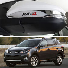 Chrome Rear view Side Mirror Cover Trim Strip Emblems For Toyota RAV4 2013-2016