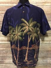 Blue water Wear Men's Hawaiian Shirt (Multi-Color, Large)