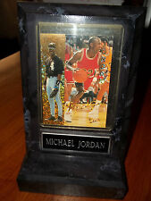 Rare MICHAEL JORDAN Baseball & Basketball Hologram Trading Card in Display Stand