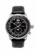 Zeppelin 100 Years Big Date Dual Time 10% OFF Retail Quartz 7640-2 Black Dial