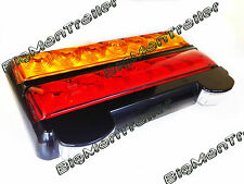 2 x LED Trailer Light Licence Indicator Stop Tail 12V Submersible Boat 207BARLP2