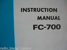 YAESU FC-700 (GENUINE INSTRUCTION MANUAL ONLY).........RADIO_TRADER_IRELAND.