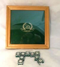 Disney Golf Pins &  Display Case, Shadow Box, Oak Finish