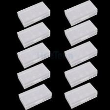 New Lot 10X White Hard Plastic Case Holder Storage Box for 18650 16430 Battery