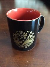 Starbucks Japan 2011 Mug Coffee Cup Black Red Island Phoenix Mountain