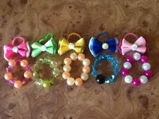 10 --- accessori - 5 Collane & 5 Fiocchi per LPS-Littlest Pet Shop - £ 4