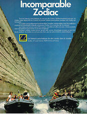 PUBLICITE ADVERTISING 045  1979  ZODIAC  bateau pneumatique
