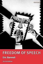 Freedom of Speech by Eric Barendt (2007, Paperback, Revised)