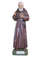 Padre Pio resin statue cm. 90 with glass eyes