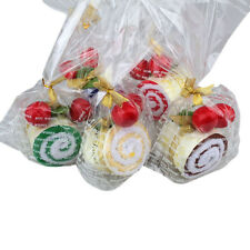 Favor Roll Cotton Cake Towel Swiss With Two Cherry Top Decor Party Wedding