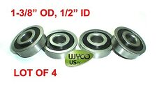 "LOT OF 4, FLANGED BEARINGS 1-3/8"" OD x 1/2"" ID,WAGONS,CARTS,GO KARTS & MUCH MORE"