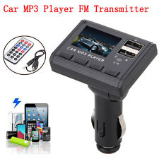 8 in1 Car Music MP3 Player FM Modulator Transmitter 2.1A Charge Remote Control