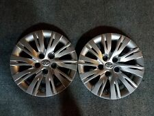 """Pair of 2 New 2012 2013 2014 Toyota Camry 16"""" Hubcaps Wheel Covers 61163"""
