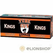 10x Boxes 2000 Count ( Gambler King Size Tube Cut Full Flavor ) Cigarette Tubes