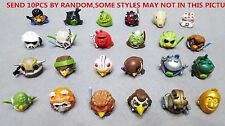 NO QR BARCODE LOT 10pcs Different Angry Birds Star Wars Figures Telepods Toys