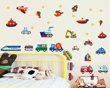 Cartoon car world Wall Decor Vinyl Decal Stickers Removable Nursery Kids Baby