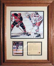 """1993 framed litho print of Mark Messier New York Rangers, approx. 11"""" x 14"""""""