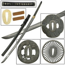 Japanese Handmade Fully Functional Build Your Own Samurai Sword Set Kit