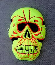 VINTAGE SKELETON SKULL Bones Monster HALLOWEEN MASK Mint Shape Plastic Style