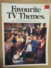 song book FAVOURITE TV THEMES