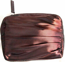 Laura Mercier Logo Brown Cosmetic Makeup Hand Bag Case Clutch glowing gathered