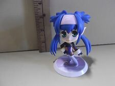 """#A220 Unknown Anime 3.5""""in Blue Twin Tail Hair Pink Bandana Blue Eyes Big Head"""