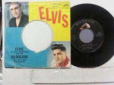 "ELVIS PRESLEY 45 RPM ""Stuck on You"" & ""Fame and Fortune"" original pic sleeve VG+"