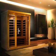 Dynamic 2 Person Far Infrared Sauna (Vienna), 6 Carbon Heating Panel, New!