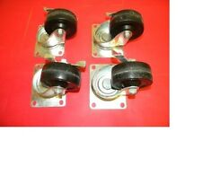 "Lot of 4 Algood 3"" inch Caster Wheels with locking brake"