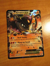 EX Pokemon TERRAKION EX card DRAGONS EXALTED Set 71/124 Black and/&White BW Rare
