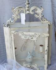 Wandlampe, weiß gewischt, Shabby chic, Provence,Landhaus,Vintage