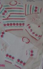 Baby ~ vestes ~ cardigans ~ pull ~ béret ~ tricot motif taille 0-3 ans (43G)