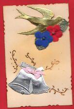 ART DÉCO-   tres beau collage de Paques avec Hirondelle non écrite parfait état