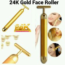 Skin Lifting Derma Roller 24k Gold Facial Massage Wrinkle Treatment BEAUTY BAR
