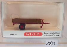 Wiking 1/87 Fortuna Landwirtschaftlicher Anhänger f. Traktor - Trecker OVP #1040