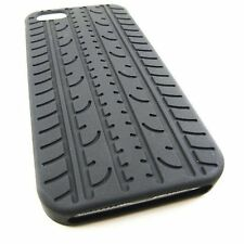 FUNDA PARA IPHONE 5S 5 SILICONA NEUMATICO NEGRO NEGRA CASE COVER BLACK TYRE tire