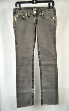 True Religion Johnny Big T Grey Jeans 27 USA Womens
